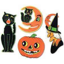retro vintage halloween cutouts partycheap