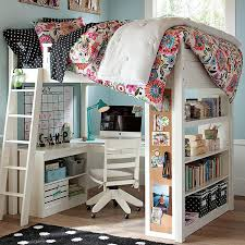 Cheap Loft Bed Frame Bedroom With Wooden Bunk Beds Ideas Two Desk