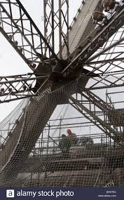 eiffel tower interior detail of the interior steel construction of the eiffel tower with
