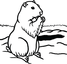 Animal Groundhog Day Coloring Pages Kids Many Interesting 4 Best Groundhog Color Page