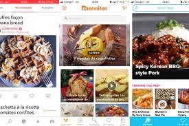 application recettes de cuisine meilleures applications gratuites de cuisine pour android et iphone