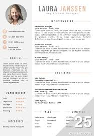 Cv Sjabloon Nederlands cv sjabloon 25 de leydsche cv advies en ontwerp
