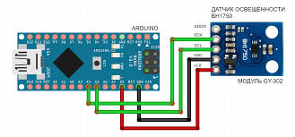 how to connect a light sensor bh1750 arduino to electronics