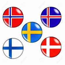 Flag Circle Nordic Country Clipart Clipground