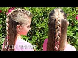 half up mohawk braid hairstyle pretty hair is fun youtube