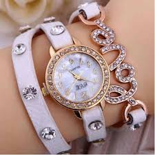 ladies watches bracelet style images Love fashion leather bracelet ladies watch white colour jpg