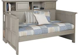 Bookcase Daybed With Drawers And Trundle Belmar Gray 4 Pc Bookcase Daybed Beds Colors