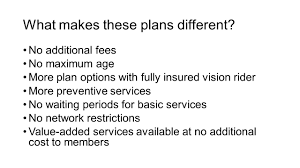 individual dental with vision rider option plan options every