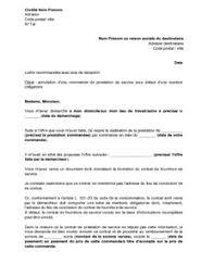 annulation commande cuisine lettre d annulation d une prestation commandée suite à un démarchage