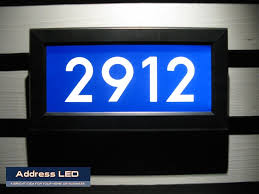 Lighted House Number Sign Led Lighted Address Signs And Custom Led Lighted Address Sign