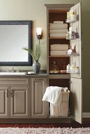 White Linen Cabinets For Bathroom Wonderful Bathroom Linen Cabinet With Her For Small At