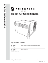 friedrich sq05n10 air conditioner user manual