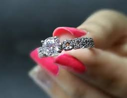 engagement rings that look real how your 1 carat ring looks like in real
