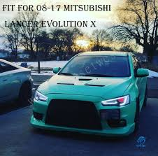 mitsubishi lancer evo 2017 demon eyes hid led headlights for mitsubishi lancer 2008 2017 evo