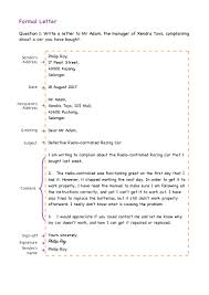 Formal Letter Template Download by Formal Letter Format Examples Exercises