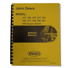 service manual for john deere square baler 466 ebay