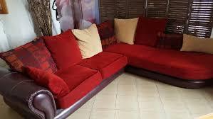 canapé cuir et tissu canape d angle en cuir et tissu occasion à cavaillon offres juin