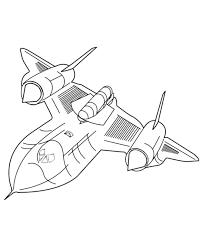 bluebonkers sr71 blackbird coloring pages planes aircraft
