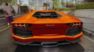 lamborghini back view lamborghini aventador lp700 4 stock for gta san andreas