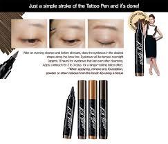 clio tattoo eyebrow pen korean beauty tip tuesday 3 trendy k pop idol eyebrow applications