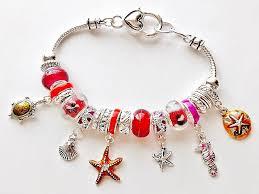 bracelet life images Pandora inspired sea life charm bracelet seahorse turtle star jpg