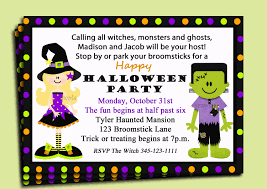 Kids Halloween Birthday Party Ideas by Halloween Birthday Party Invitations U2013 Gangcraft Net