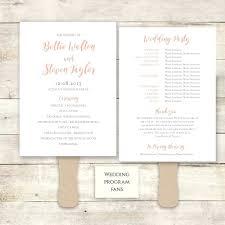 order wedding programs template wedding programs fans template