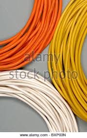 coiled orange electrical cable stock photo royalty free image