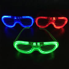 party sunglasses with lights led light up sunglasses shades flashing blink glow glasses 3 mode