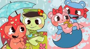 happy tree friends images flippy x flaky and splendid x giggles hd