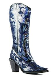 s boots with bling helen s bling boots in black blue lb 0290 12 nchantment