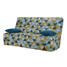 canapé clic clac alinea housse pour clic clac 130cm motif triangles scandi cocoon