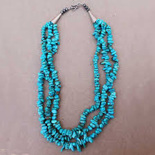long turquoise necklace images Three strand turquoise necklace mystical arts by ruby jpg