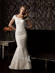 Fitted Wedding Dresses Lace Wedding Dress With Cap Sleeves Naf Dresses