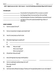 science fusion worksheets for unit 3 digital lesson grade 4 by