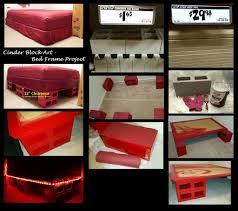 Concrete Block Bed Frame Cinder Block Bed Frame Storage Bed