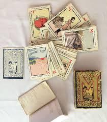 1920s antique fortune telling cards madame signa mystic fortune