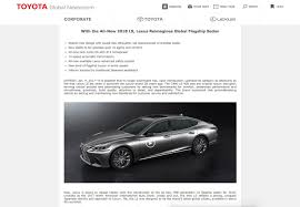 lexus ls 500 turbo 2018 lexus ls 500h teased by accident autoevolution