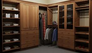 custom closet space with compartmental fixtures in 3d