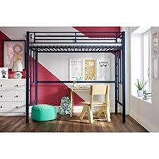Furniture Your Zone Bunk Bed by Amazon Com Your Zone Metal Loft Twin Bed By Superindoor Blue