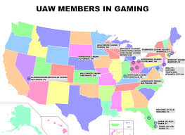 Hollywood Florida Map by Home Uaw Gaming Union Las Vegas