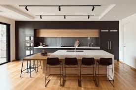 Black Kitchen Wall Cabinets Kitchen Wooden Kitchen With Tray Ceiling Also Track Lighting