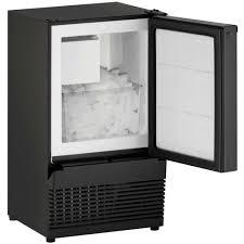 u line ada15ims 00b ada compliant crescent ice maker model black