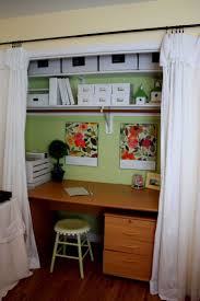 348 best small office ideas images on pinterest home study and excellent green and white color style home office design in the closet with beautiful transparent white curtain decorating and woode office desk also wooden