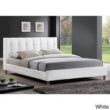baxton studio vino modern queen size bed with upholstered