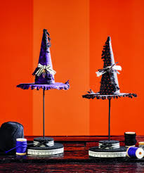 halloween witch hat craft witch hat topiary halloween centerpiece allfreeholidaycrafts com