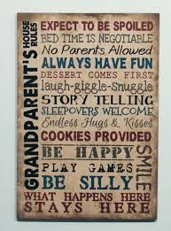 family wood sign home decor wood sign grandparents house rules grandma gift primitive