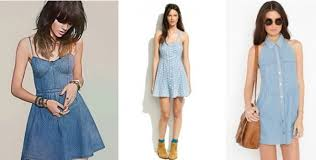 denim dress and jeans the look your glamour
