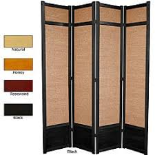 handmade wood and jute 6 foot 3 panel room divider china free