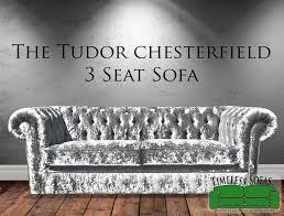 Chesterfield 3 Seater Sofa by The Essex Modern Handmade Black Crushed Velvet Chesterfield Sofa